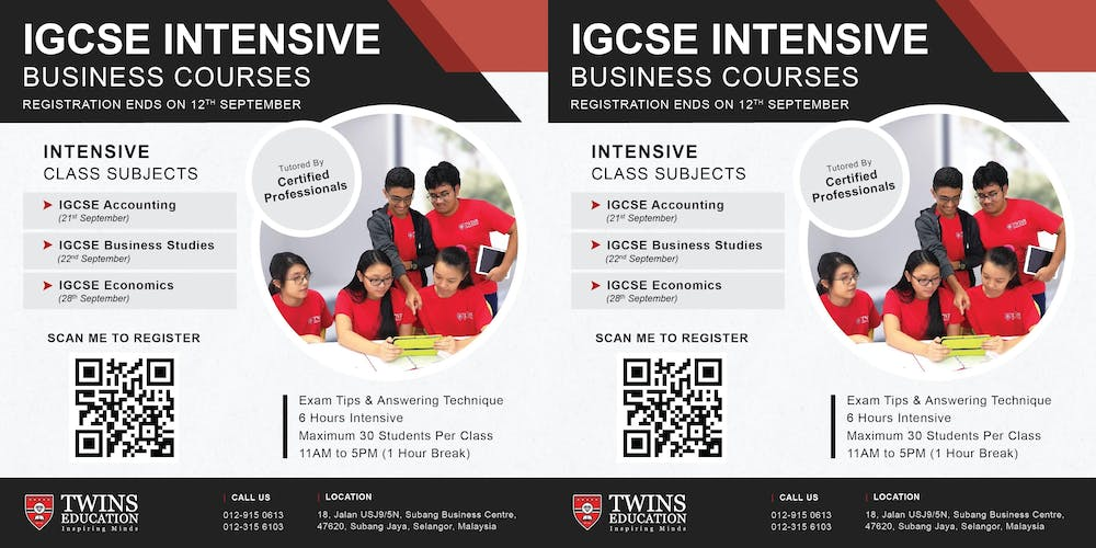 IGCSE Intensive Class - Oct/Nov 2019 Tickets, Multiple Dates