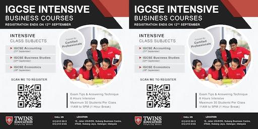 IGCSE Intensive Class - Oct/Nov 2019