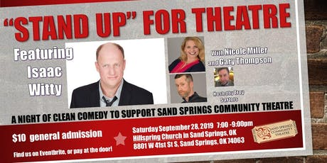 """""""STAND UP"""" FOR THEATER a night of theater benefitting Community Theater tickets"""