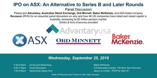 IPO on ASX: An Alternative to Series B and Later Rounds Panel