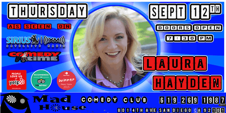 Laura Hayden as seen on Comedy Time Tv, Sirus XM and more! tickets