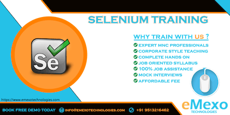 Selenium Training in Electronic City Bangalore tickets