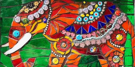 "Mosaic with Mary: ""Fresh Take on Folk Art"" India Elephants tickets"