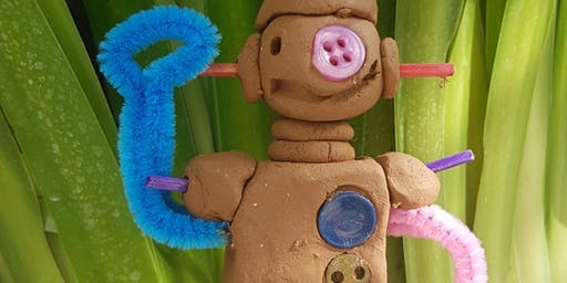 Fluro Clay Robots