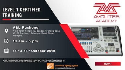 Avolites Academy -Level 1 Certified Training (1 Day) tickets