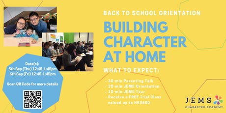 2019-2020 Back To School Orientation: Building Character At Home tickets