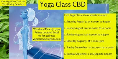 Free Outdoor Yoga Class CBD Woodland Park NJ Monday 9/2 at 12:00pm to 1:00pm