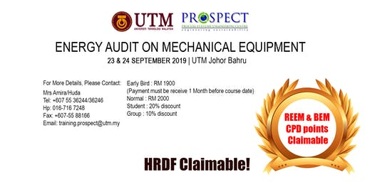 ENERGY AUDIT ON MECHANICAL EQUIPMENT