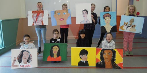 SELFIE SELF- PORTRAITS (painting) for 9 – 14 year olds