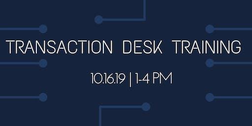 Mastering Transaction Desk | 3 Hours CE Credit