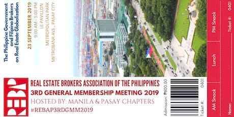 REBAP 3rd General Membership Meeting 2019 tickets