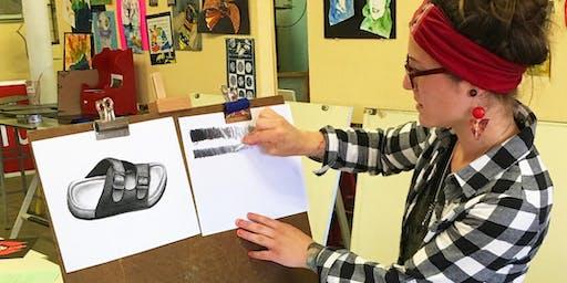 """STUDIO ART FOCUS """"After School Art Program"""" BLOCK #1, for ages 13-18"""