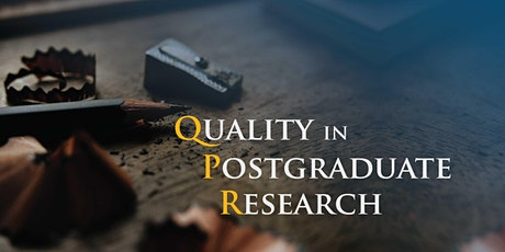 QPR 2021 - Quality in Postgraduate Research Conference  tickets