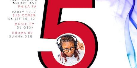 #G33kNight 5-Year Anniversary Turnup / DJ G33k tickets
