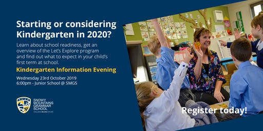 SMGS Kindergarten Information Evening