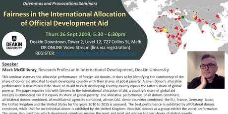 Fairness in the International Allocation of Official Development Aid tickets