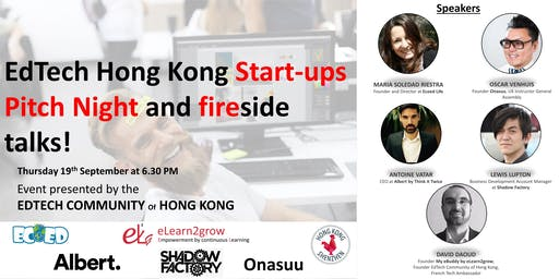 EdTech Hong Kong Start-ups Pitch Night and fireside talks! Mix and Drink of September