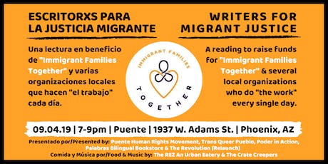 Writers For Migrant Justice tickets