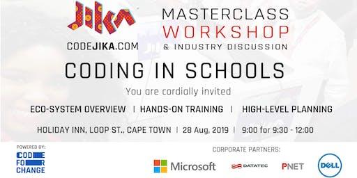 "CodeJIKA ""Coding in Schools"" Masterclass & Workshop   Cape Town"