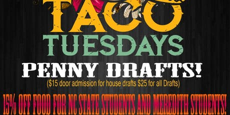 Penny Draft Night & Taco Tuesday @ Riddle Raleigh tickets