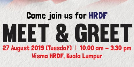 HRDF MEET & GREET tickets