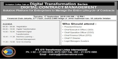 #DIGITAL CONTRACT MANAGEMENT tickets