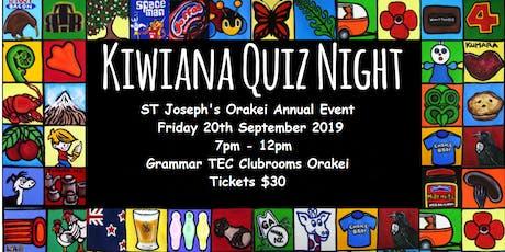 St Joseph's School Kiwiana Quiz Night tickets