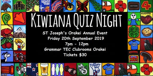 St Joseph's School Kiwiana Quiz Night