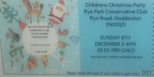 Rye Park Con Club Children's Christmas Party