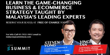 Secrets Of E-Commerce Business Event 2019 Live In Penang tickets