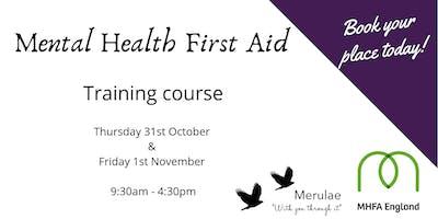 Mental Health First Aid (2 day) Telford, Shropshire
