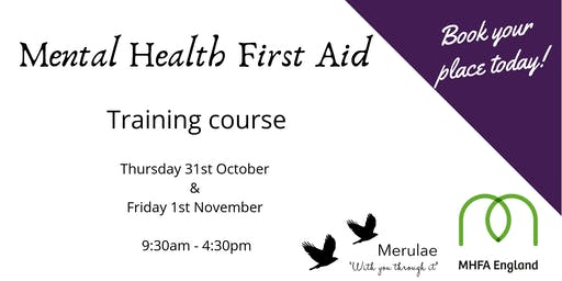 Mental Health First Aid (2 day) Telford, Shropshire