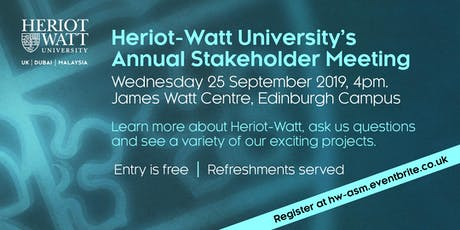 Heriot-Watt Annual Stakeholder Meeting tickets