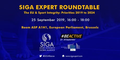 SIGA Expert Roundtable - The EU & Sport Integrity: Priorities 2019 to 2024 tickets