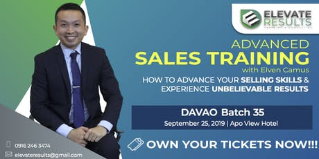 Advanced Sales Training - DAVAO Batch 35 tickets