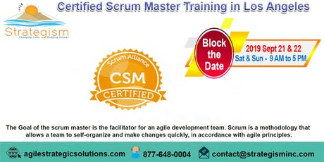 Certified Scrum Master (CSM) Training in Los Angeles-Sept 21,22-2019 tickets