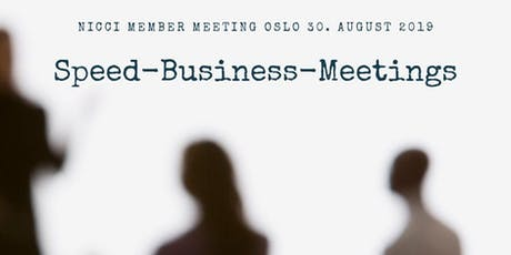 NICCI member meeting: Speed-Business-Meetings tickets