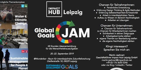 Global Goals Jam Leipzig 2019 Tickets