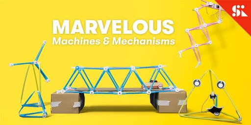 Marvelous Machines & Mechanisms, [Ages 7-10], 9 Sep - 13 Sep Holiday Camp (2:00PM) @ East Coast