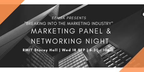 EFMSA's Marketing Panel and Networking Night  tickets