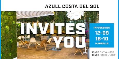 Azull infosessie Marbella  vrij 18 oktober - 10.30u entradas