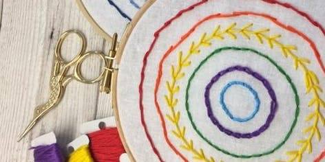 Embroidery for Beginners Workshop at The Secret Herb Garden