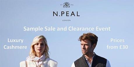 N. Peal Sample Sale tickets