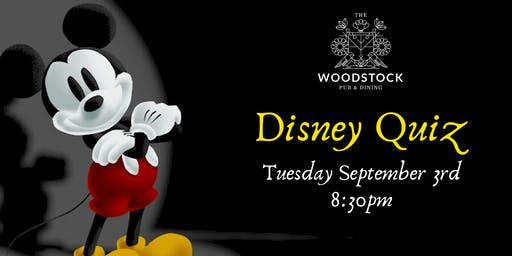 Disney themed quiz night