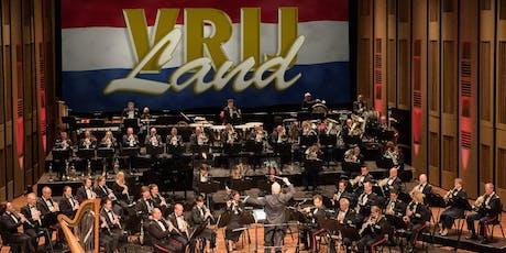 Koninklijke Militaire Kapel 'Johan Willem Friso' Thema 'Vrij land' (Theater tickets