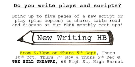 New Writing HB - share work-in-progress scripts & plays! tickets