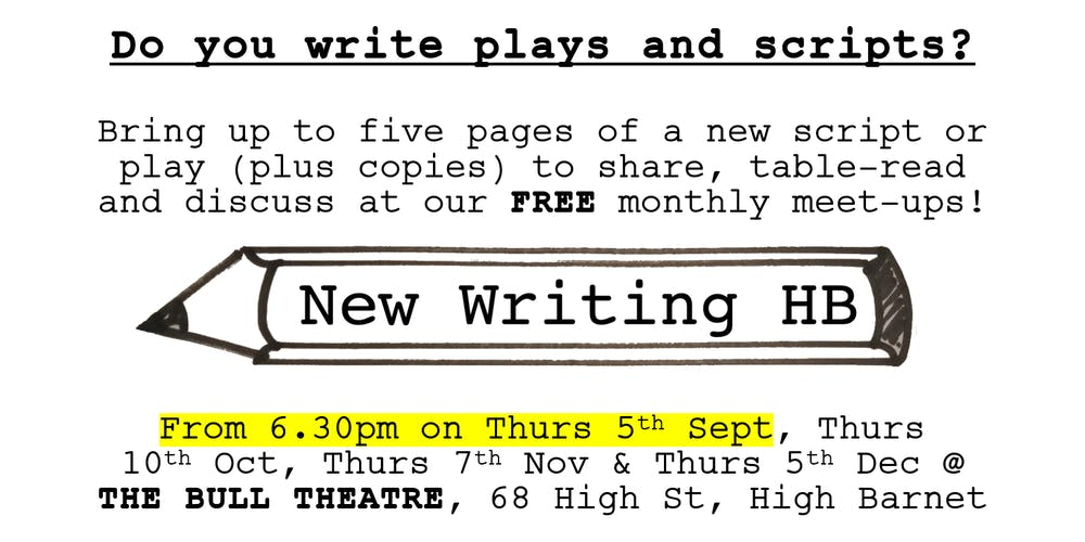 New Writing HB - share work-in-progress scripts & plays