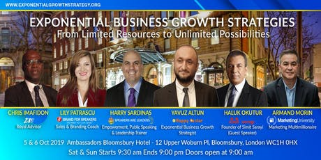 New Models from Experts to grow your business Exponentially tickets