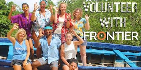 Frontier - Volunteering opportunities abroad tickets