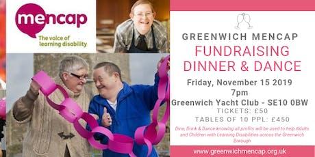 Greenwich Mencap Fundraising Dinner & Dance tickets